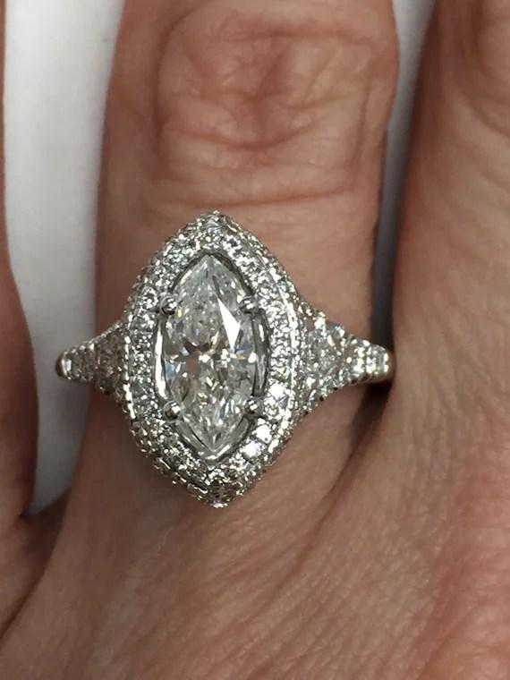 Large Diamond Wedding Rings