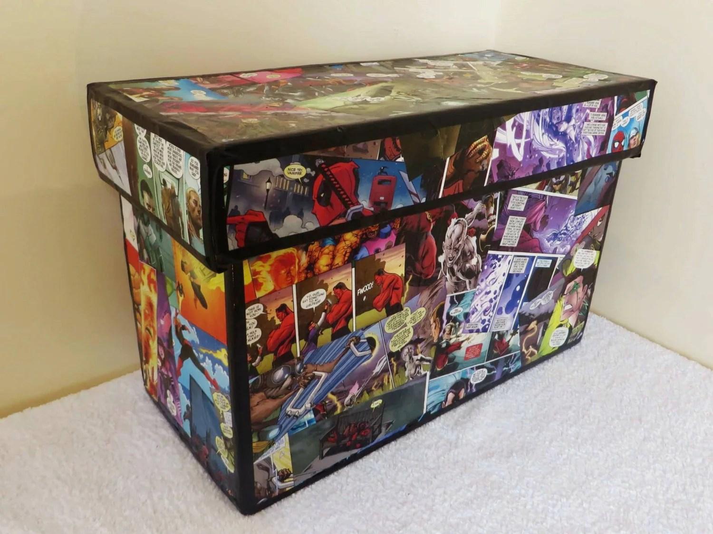Custom Comic Book Storage Box By Knowheredesign On Etsy