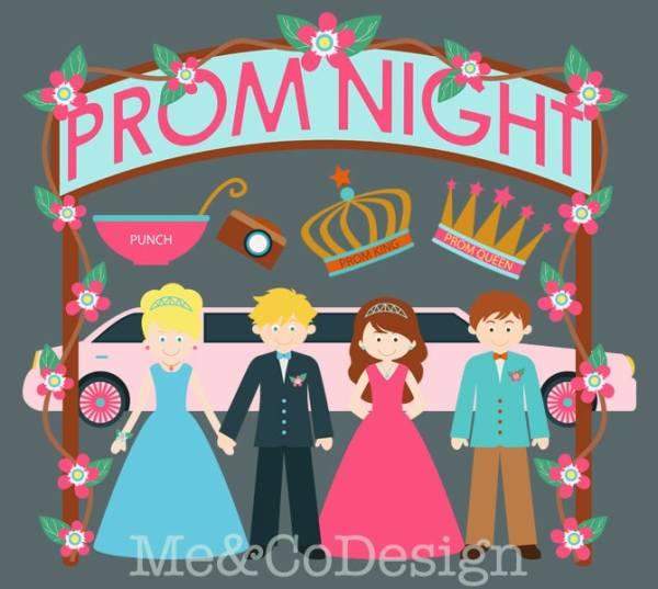 prom night clipart fun cute