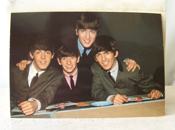 Vintage Beatles Postcard Fab Four Rock Group Cynthiasattic