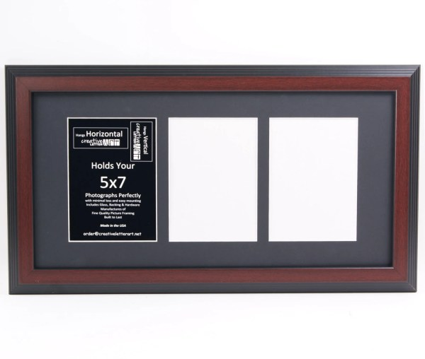 5x7 Mahogany Frames With Multi 3 4 5 6 7 Opening