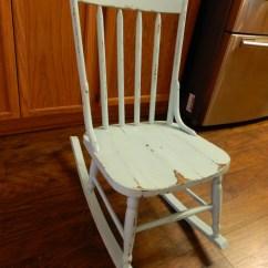 Rustic Rocking Chair Heywood Wakefield Wicker Vintage Wood Shabby Chic Rocker Pale