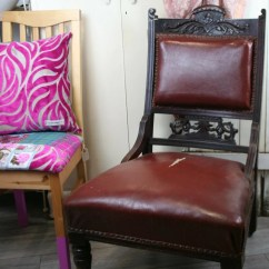 Leather Chair Repair Kohls Pads Antique