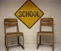 School Chair American Seating Desk Chair by rustbeltsanctuary