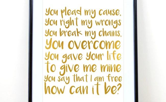 How Can It Be Lauren Daigle Christian Lyrics Hand Lettered