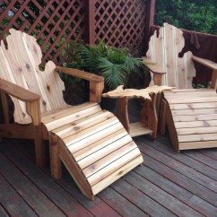 Michigan Adirondack Chair Bedroom Round Deluxe Patio Set Chairs Ottomans And