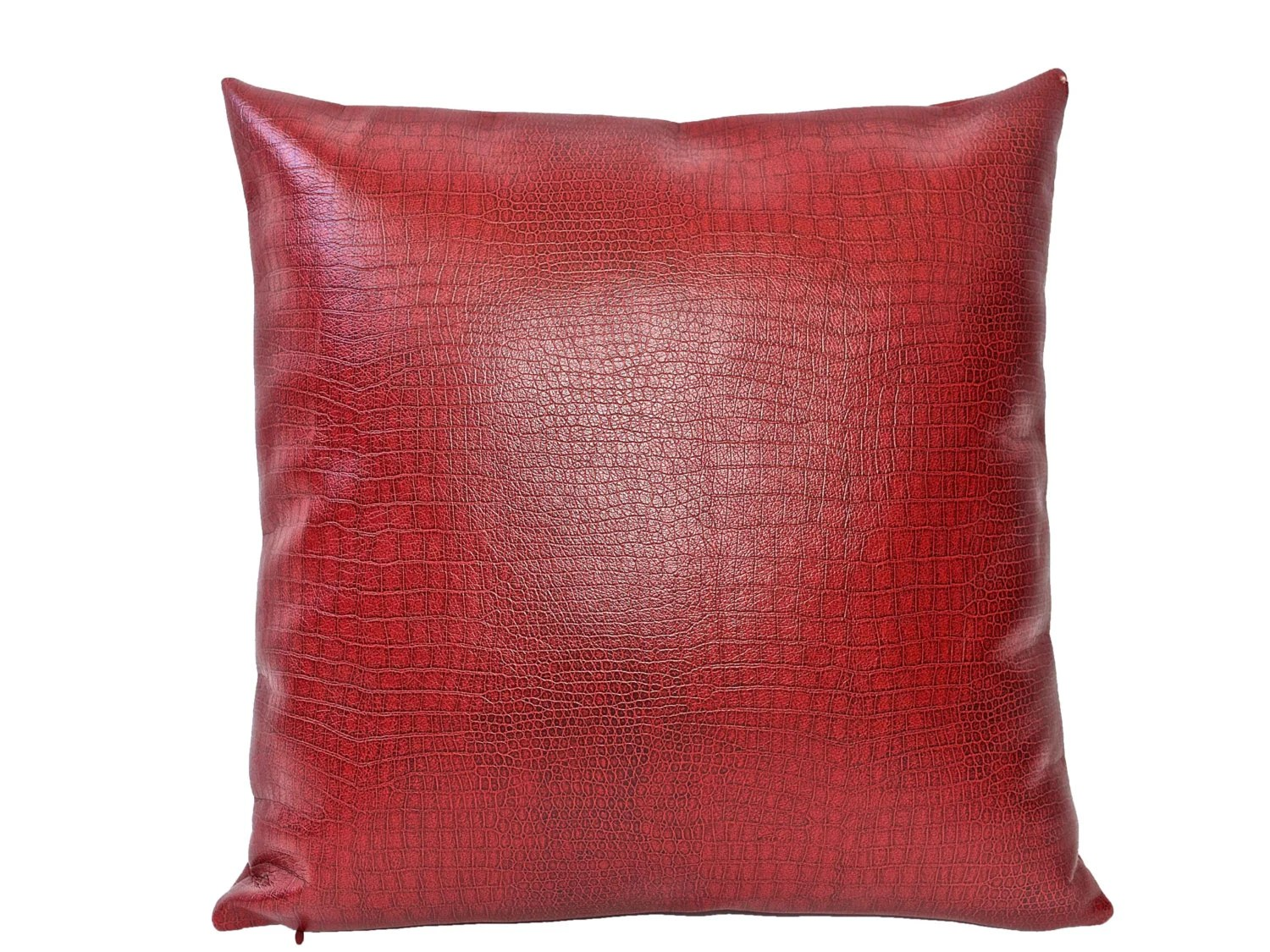 Red Leather Decorative Pillow by katestoltzshop on Etsy