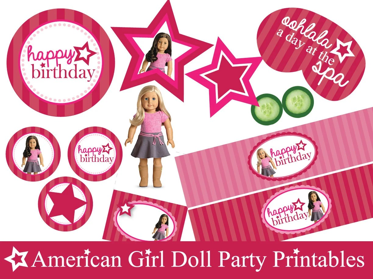 American Girl Doll Party Themed Printables By Partybyaprincess