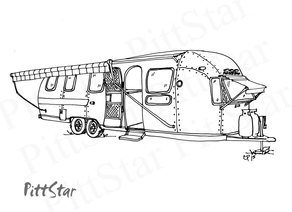 Instant Download Vintage Airstream Travel Trailer