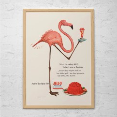 Vintage Posters For Kitchen Thermador Package Jello Ad Pink Flamingo Poster Art