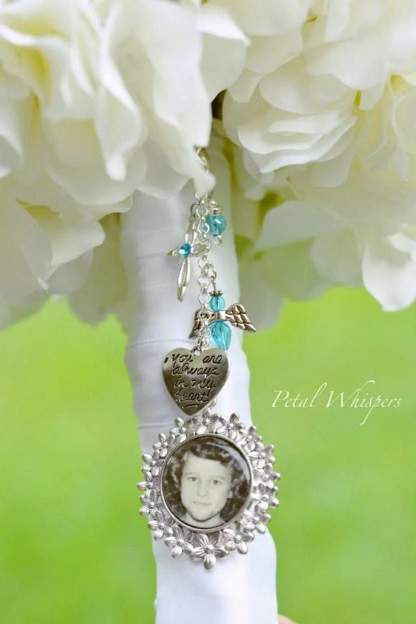 Bouquet Pendant Charm Bridal Turquoise