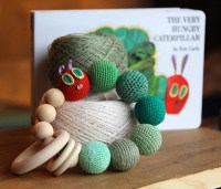 The Hungry Caterpillar wooden rattle. Crochet by ...