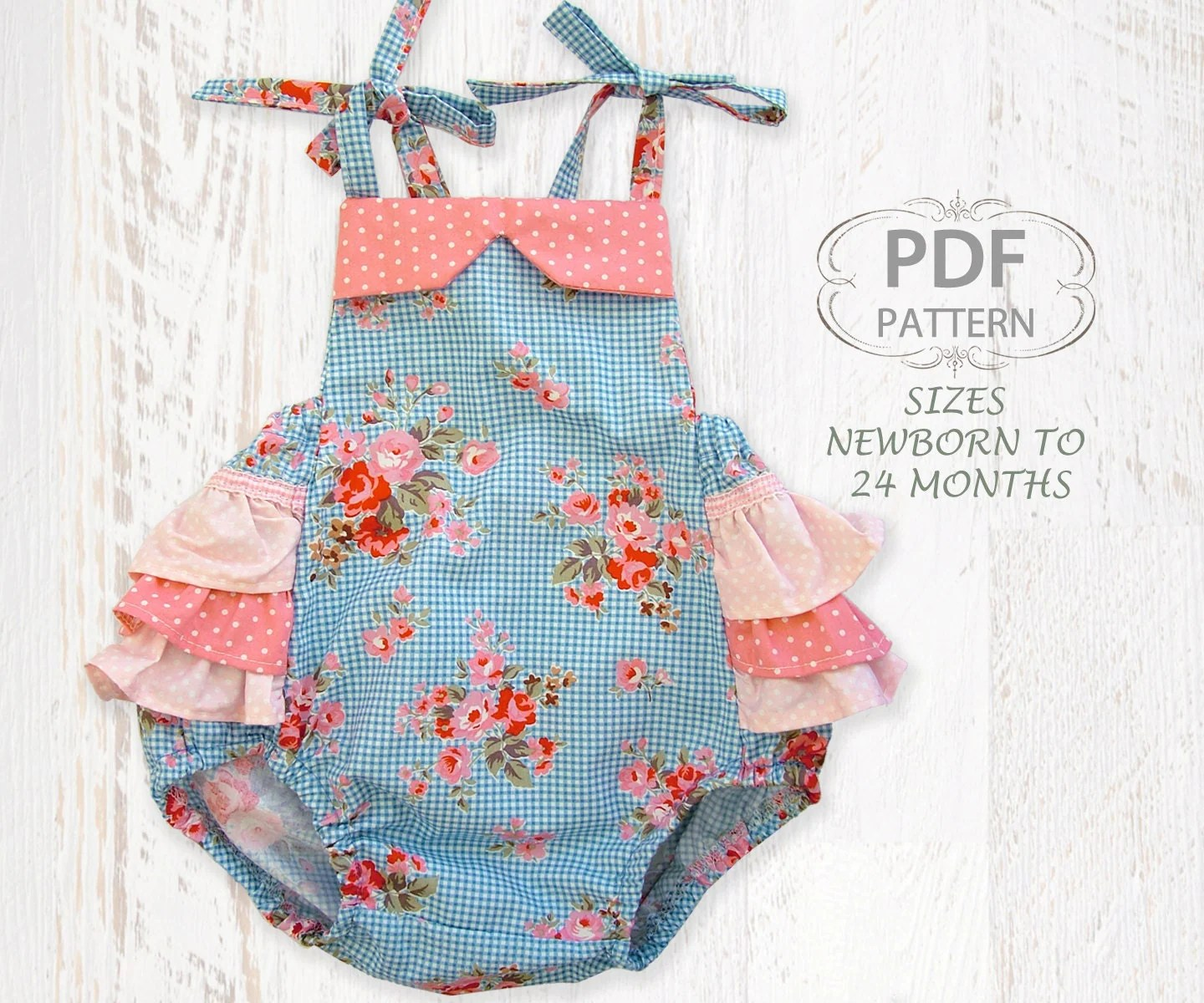 Baby Sewing Pattern For Romper Sewing Pattern For Baby