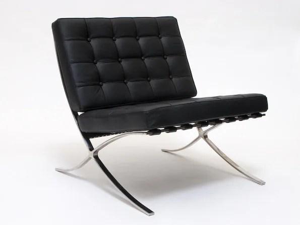 Iconic Barcelona Chair Mid Century Modern  1929 Design