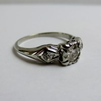Layaway for Ann..........1940's DIAMOND ENGAGEMENT RING in