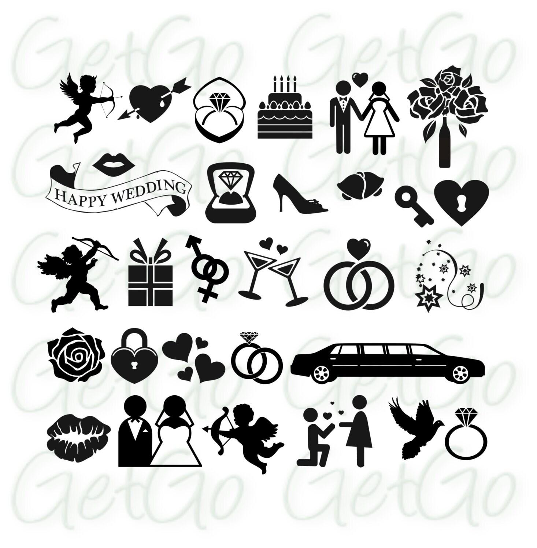Wedding Icons Clipart Vectors Invitation Clip Art Cards