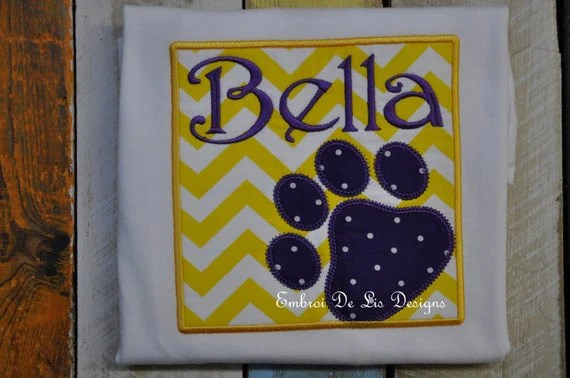 Items similar to Personalized LSU Tiger Paw Print