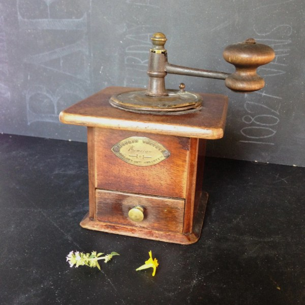 Reduced Small Antique French Coffee Grinder Mill Early 20th