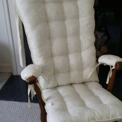Rocker Glider Chair Black Metal Dining Chairs Items Similar To Custom Ivory Rocking Cushions, Replacement Pads, Cushions ...