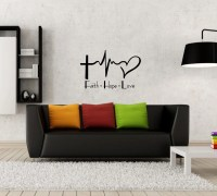 Faith Hope Love Wall Decal Sticker by HappyFlightDesigns