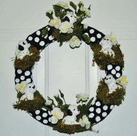 Front Door Decoration Dog Wreath Dalmatian wreath Dog