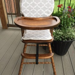 Padded High Chair Old Farm Chairs Cover Pad Highchair