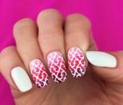 sixty nine pattern nail art stencils