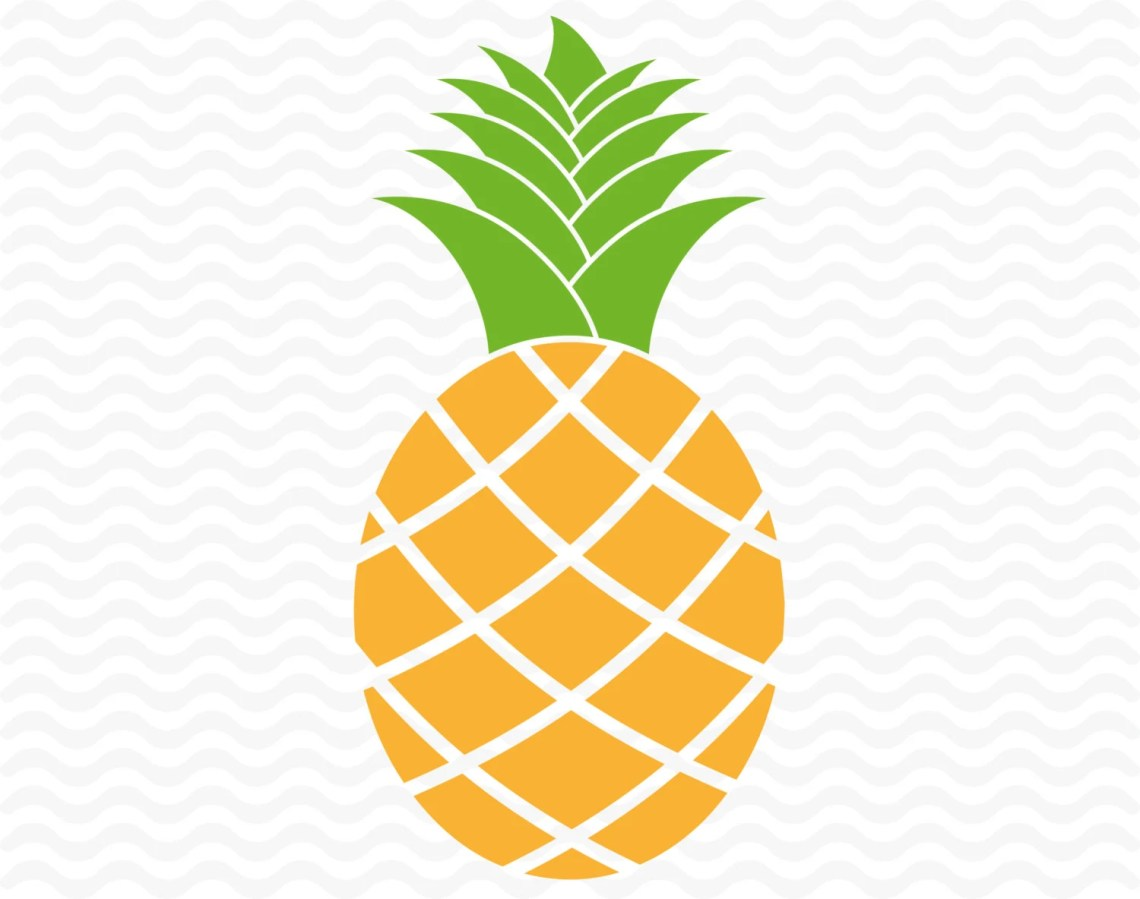 Download Pineapple SVG DXF EPS Vinyl cut files for use with