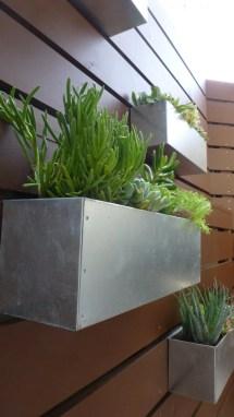 Metal Hanging Planter Box Horizontal Fence Succulent