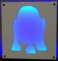 R2D2 Illuminated Wall Art