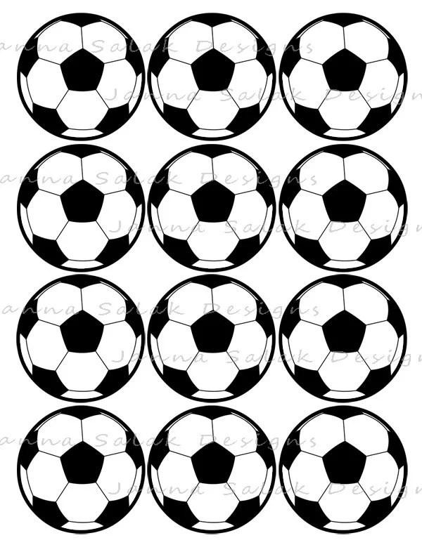 2.5 Soccer Ball Printable Cupcake Toppers Sports Theme
