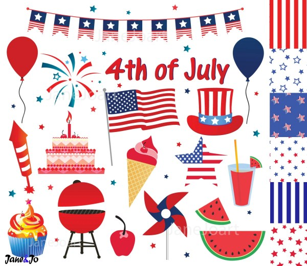 4th of july clipart fourth