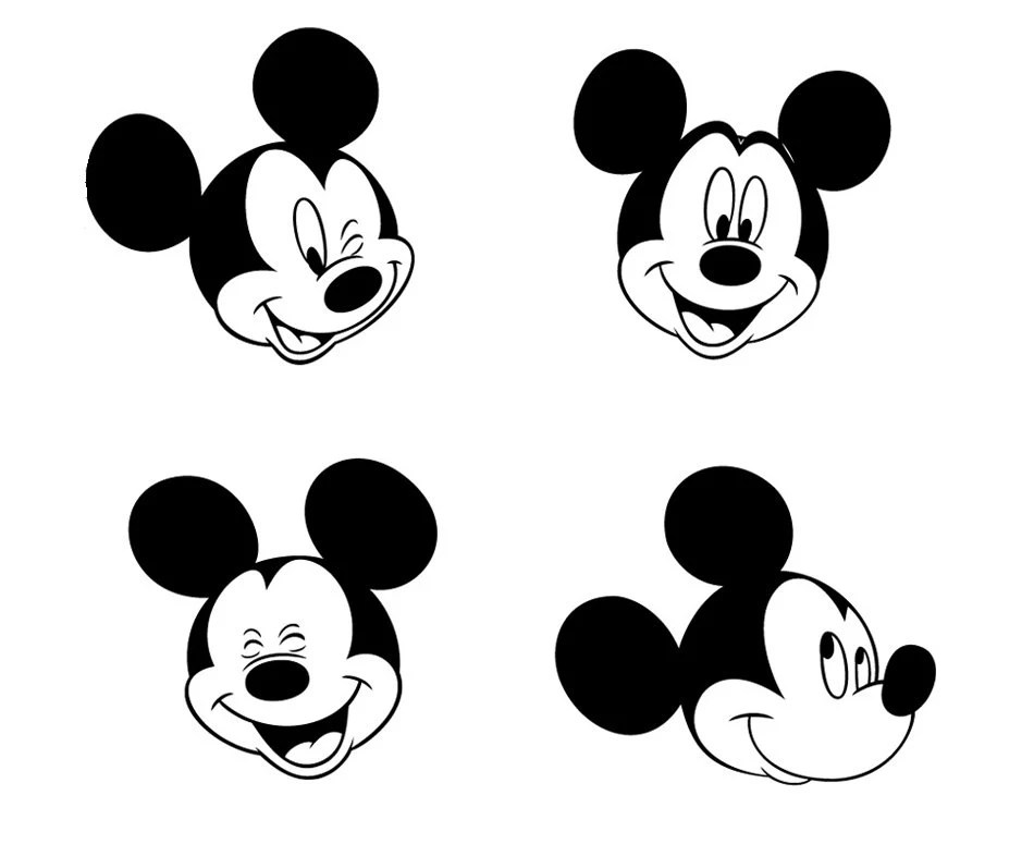 Download Mickey Mouse 8 face designs. Vector cuttable files. -eps ...