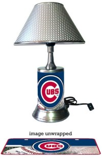 Chicago Cubs Lamp with chrome shade