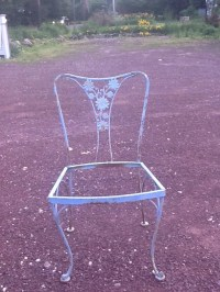 Mid century Woodward Daisy wrought iron chairs lot of 10 ...