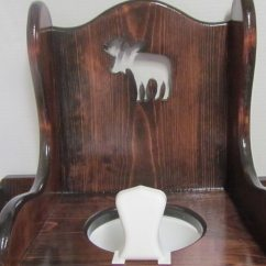 Wooden Potty Chair Anywhere Knock Off With Moose Cut Out