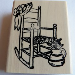 Grandma Rocking Chair Outdoor Plastic Folding Chairs Rubber Stamp Sitting On Front Porch By Yellowmod