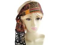 Hippie Head Scarves | crochet headscarf boho head wrap ...