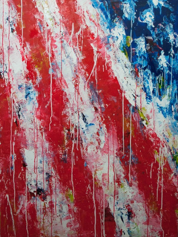 American Flag Abstract Art Paintings