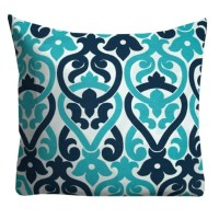 Turquoise Navy Outdoor Pillows Outdoor Throw Pillows Patio