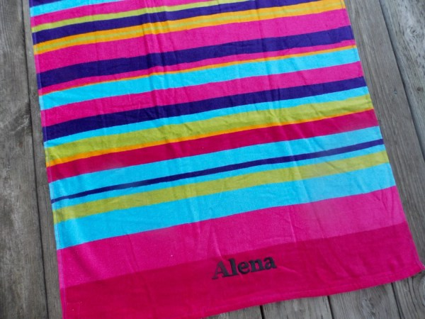 Girl Personalized Beach Towel Birthday