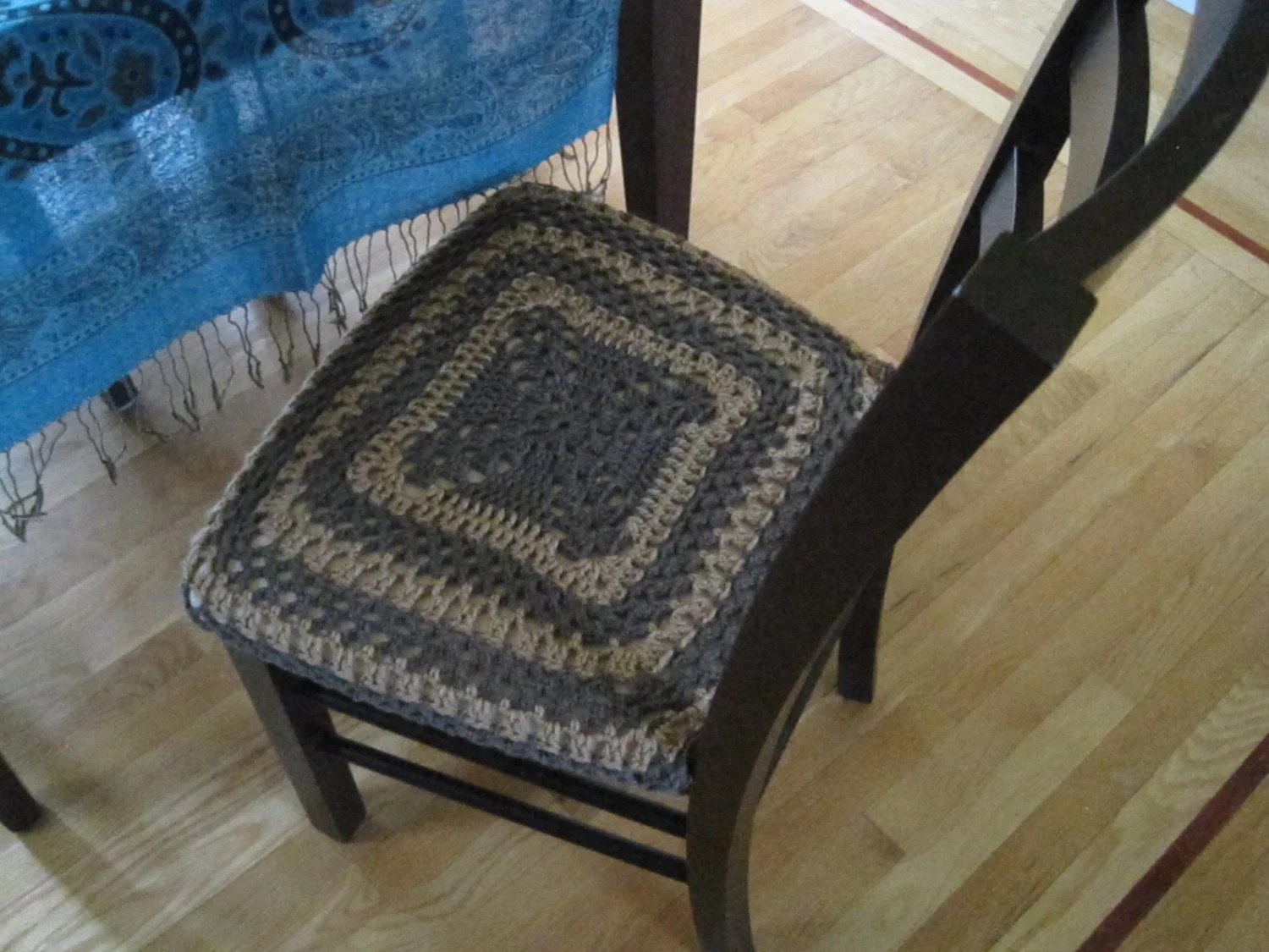 taupe chair covers high back club with ottoman crochet cover cozy heather warm brown ccc2a