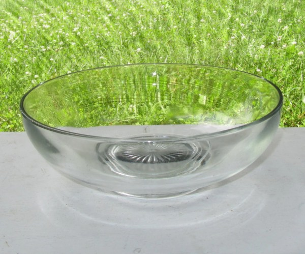 Large Serving Bowl Clear Glass Catering Sun Burst Design