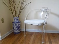 Ghost Chair Clear Lucite Mid Century Modern Hollywood