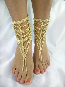 Foot Jewelry Barefoot Sandles Sandal Gold