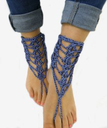 Beach Wedding Shoes Boots Barefoot Sandals Denim