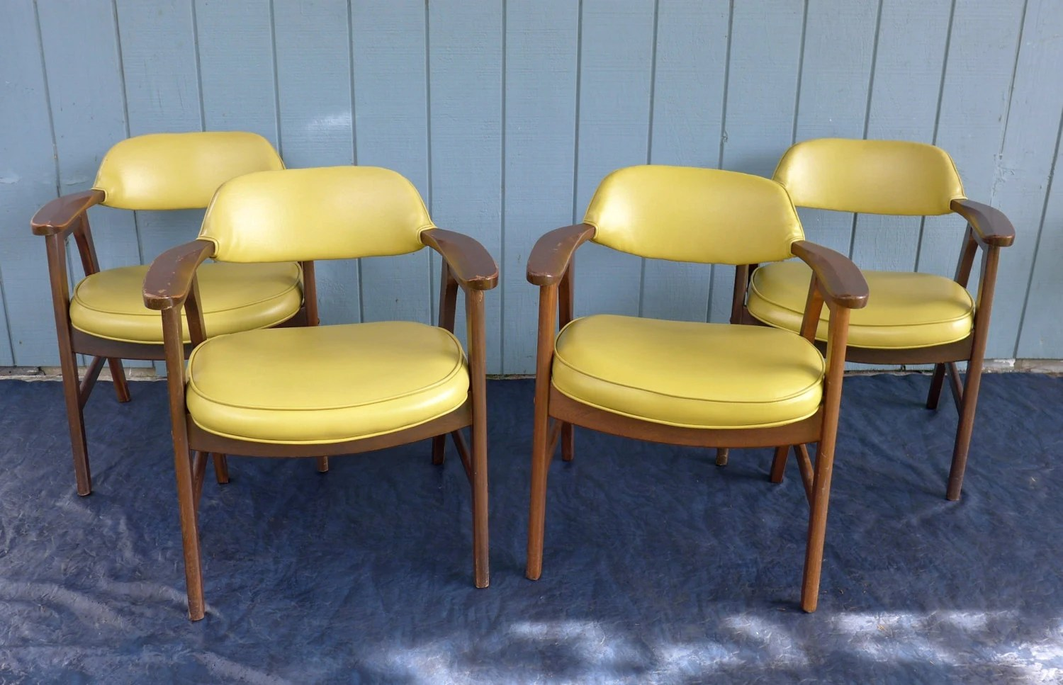 swivel chair mustard yellow ergonomic with lumbar support reserved for audrey 4 arm chairs murphy miller