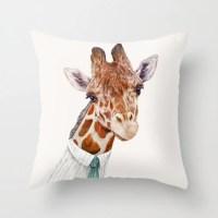 Giraffe THROW PILLOW Decorative Cushion Giraffe Decor