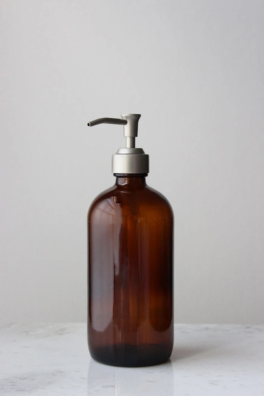 kitchen liquid dispenser sink faucet parts amber market glass apothecary style soap