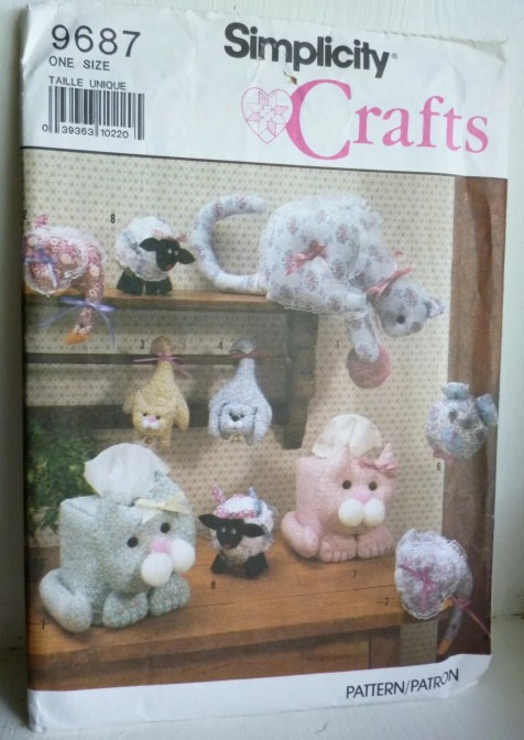 Simplicity 9687 Sewing Pattern Crafts bazaar items cats sheep dogs | Jungleland Vintage on Etsy